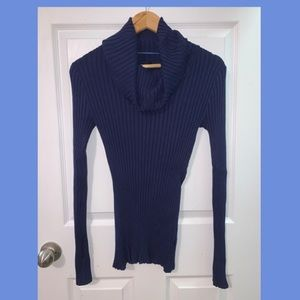 Apt. 9 Navy Cowl Sweater Top Size S